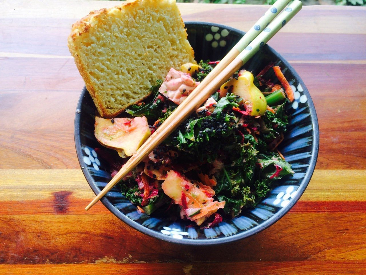 Kale salad with Squash