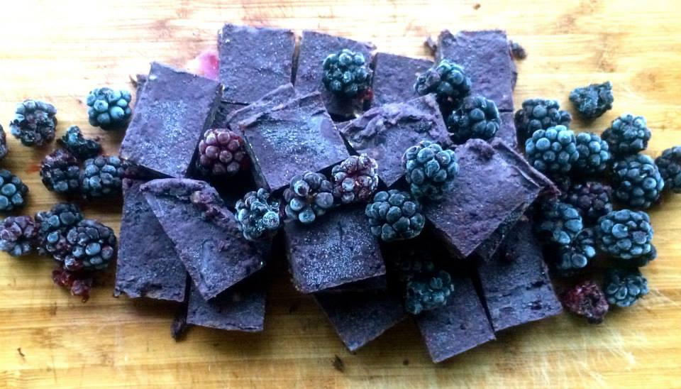 Raw Snickers Wild berry fudge