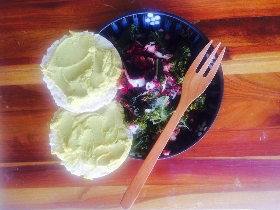 Kale salad with pickled fennel