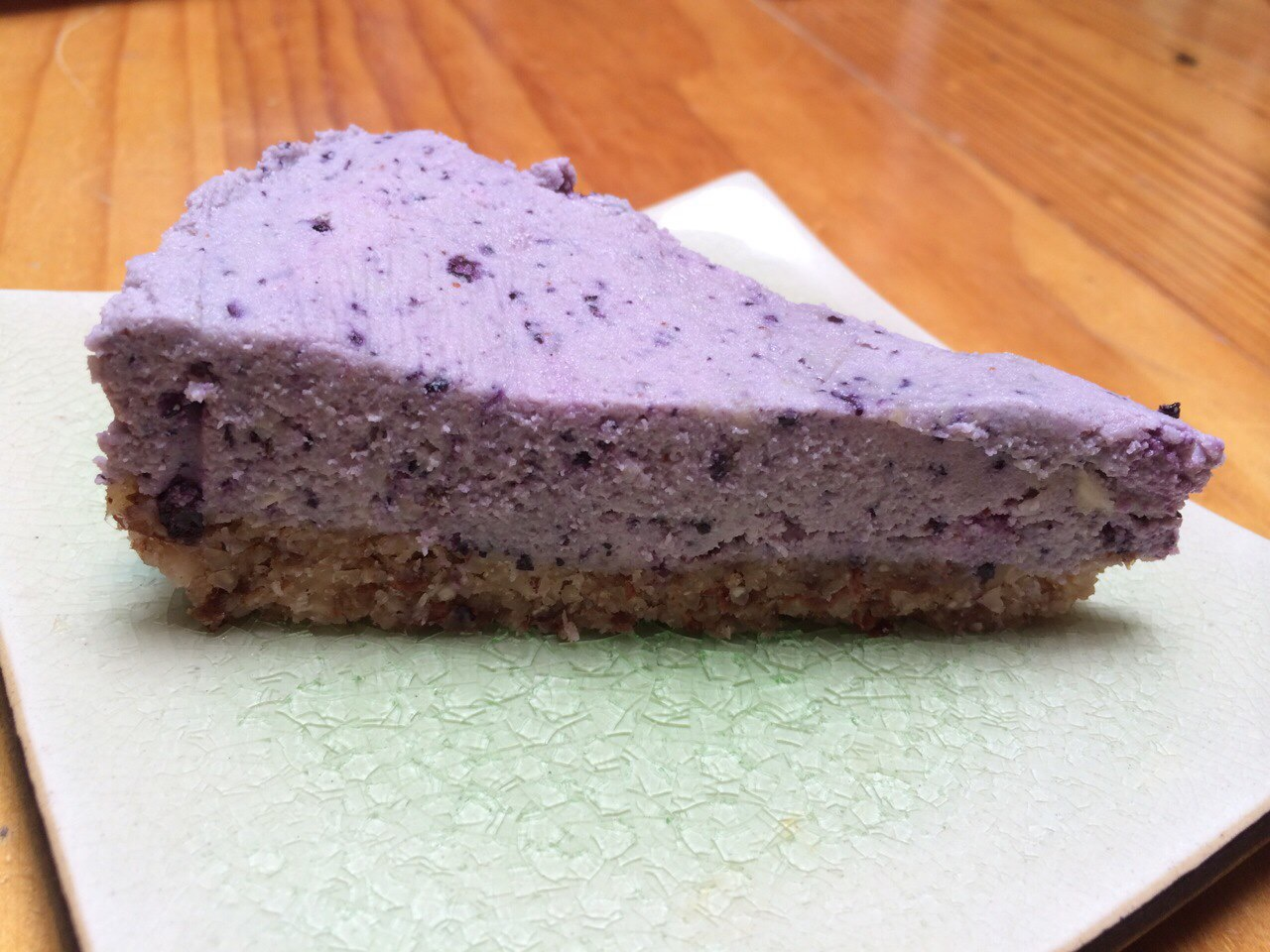 Raw Organic Chocolate Blueberry Cheesecake