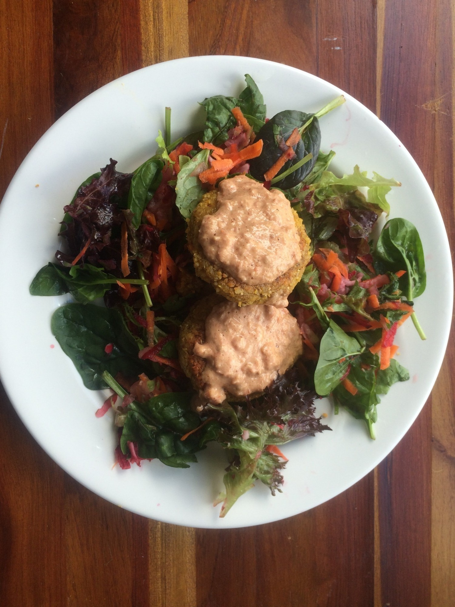Falafels from health-food shops plus delicious dip