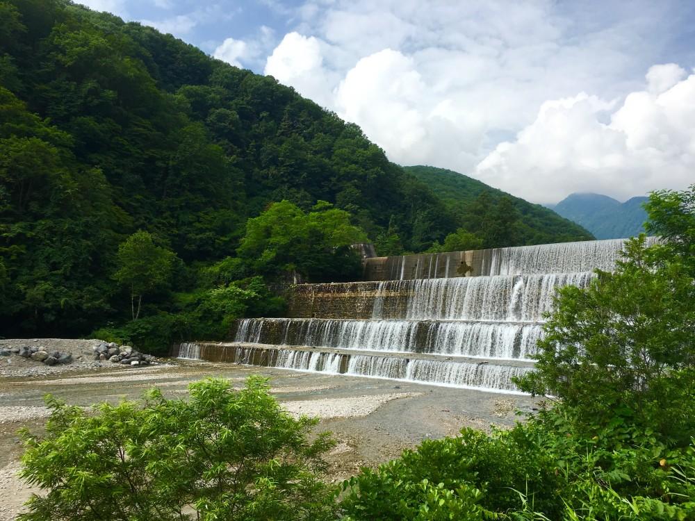 Water falls 2 min walk from the villa